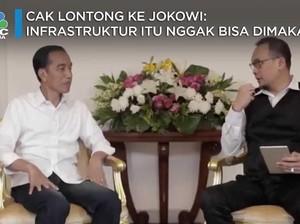 Cak Lontong ke Jokowi: Infrastruktur Itu Nggak Bisa Dimakan