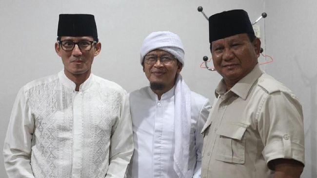 Aa Gym Resmi Dukung Prabowo-Sandi: Bismillah Saya Milih 02
