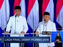 Ini Pesan Jokowi dan Ma'ruf di Akhir Debat