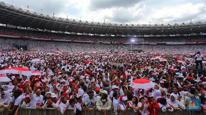 Akhir pekan ini tiba giliran Paslon 01 Jokowi - Mar'uf Amin menggelar Kampanye Akbar di Stadion Utama Gelora Bung Karno Jakarta.
