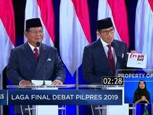 Ini Gaya Prabowo-Sandi Menutup Debat
