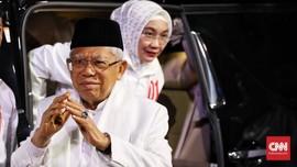 Ma'ruf Sindir 'Kubu Sebelah' Belum Akui Kemenangan Jokowi