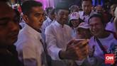Cawapres nomor urut 01 Joko Widodo mengikuti debat kelima Pilpres 2019 di Hotel Sultan, Jakarta, Sabtu (13/4/2019). (CNN Indonesia/Adhi Wicaksono)