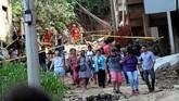 Dua orang meninggal dalam kejadian itu. Sejumlah orang dilaporkan masih hilang. (REUTERS/Ricardo Moraes)