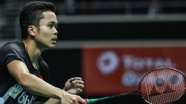 Dikalahkan Momota, Anthony Gagal Juara Singapura Terbuka 2019
