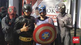 'Captain America' Muncul di Kampanye Akbar Jokowi