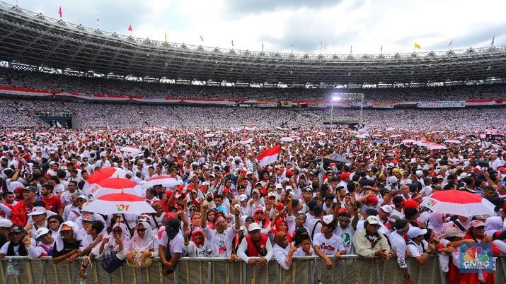 Mengintip Keriuhan Kampanye Akbar Jokowi-Ma'ruf Amin di GBK