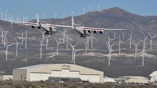 FOTO: Penerbangan Pertama Pesawat Terbang Terbesar di Dunia