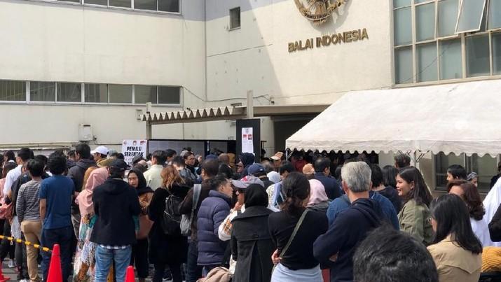 Ratusan WNI Serbu Lokasi Pemungutan Suara di Jepang
