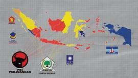 INFOGRAFIS: Peta Kekuatan Partai Politik di Pemilu 2014