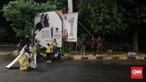 Selama masa tenang, KPU memang sudah meminta agar tidak ada hal-hal yang berbau kampanye, baik itu alat peraga maupun iklan kampanye. (CNN Indonesia/Andry Novelino)