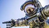 Yang menarik pada tahun ini, ikon Coachella berupa astronot non-gender kembali muncul. Kali ini, Poetic Kinetics menyebut astronot ini bernama Overview Effect yang merupakan 'teman' dari 'Escape Velocity' alias 'astronot' asli Coachella.(Amy Harris/Invision/AP)