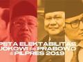 INFOGRAFIS: Peta Elektabilitas Jokowi-Prabowo di Pilpres 2019
