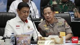 Kapolri dan Wakabin Bungkam Usai 30 Menit Bertemu Wiranto