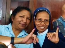 Demi Ikut Pemilu, Suster Maria Tempuh 300 KM Menuju TPS