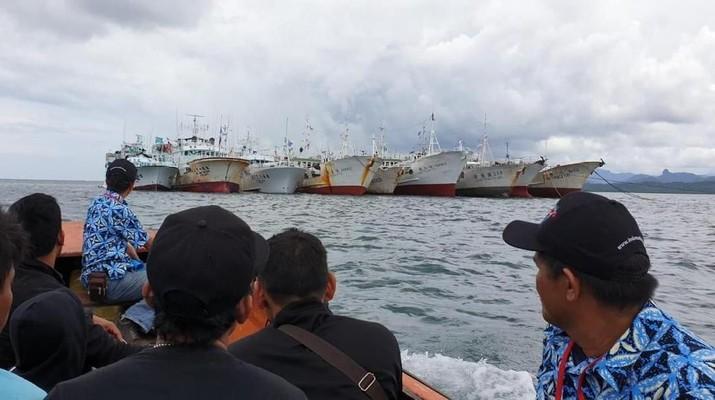 Di Fiji, Pemilih Nyoblos Pemilu 2019 di Tengah Laut