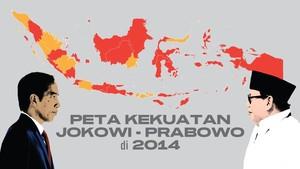 INFOGRAFIS: Peta Kekuatan Jokowi - Prabowo di Pemilu 2014