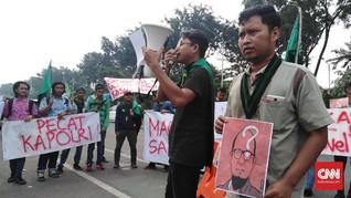 Tuntut Penyelesaian Kasus Novel, Demo HMI Jatim Sempat Ricuh