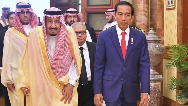 Jokowi, Raja Salman, & Janji Eratkan Hubungan Ekonomi