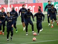 FOTO: Intip Latihan Barcelona vs Man United di Liga Champions