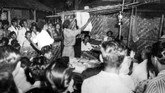 Suasana pada saat penghitungan surat suara di TPS Kelurahan Kemayoran yang berlangsung hingga malam, 29 September 1955.Namun, setelah 1955 Pemilu tidak dilaksanakan lima tahun sekali seperti seharusnya. (ANRI)