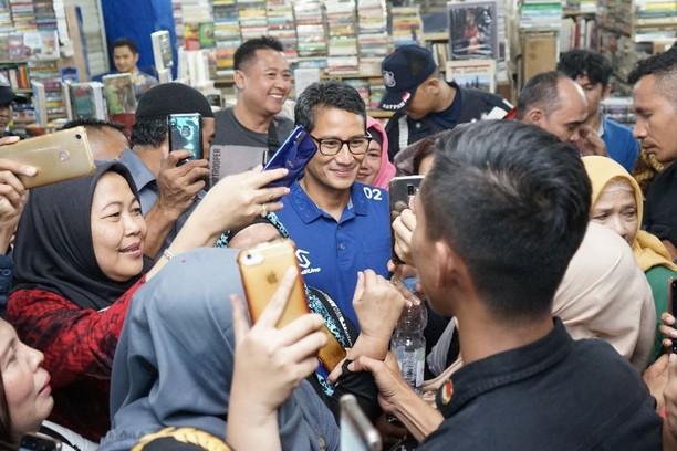 Suasana Peluncuran Buku Sandiaga Uno dari Angka 0,03 persen