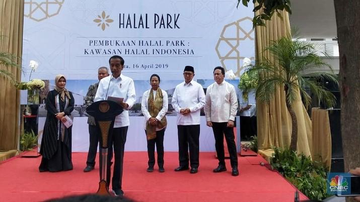 Jokowi Resmikan Proyek Halal Park Rp 250 Miliar