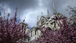 FOTO: Gereja Notre Dame Sebelum Dilalap Api