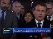 Presiden Prancis Galang Dana untuk Bangun Kembali Notre-Dame