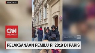 VIDOE: Antusiasme WNI di Paris Gunakan Hak Pilih