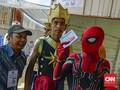 Spiderman dan Gatot Kaca Ikut 'Nyoblos' di Pekanbaru