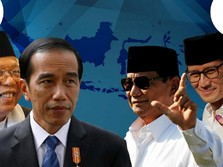 Quick Count Pukul 17.00 WIB: Jokowi Unggul 10% Vs Prabowo