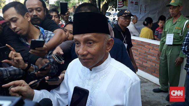 Jokowi-Ma'ruf Menang Telak di TPS Amien Rais