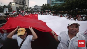 FOTO: Riuh Pendukung Jokowi Rayakan 'Kemenangan'
