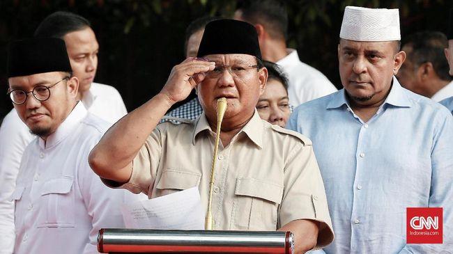 Ragam Tudingan Prabowo Usai Kalah Quick Count Pilpres 2019