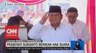 VIDEO: Berbaju Putih, Prabowo Subianto Berikan Hak Suara