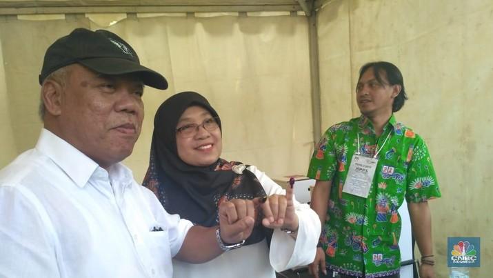Menteri Basuki Cuma Coblos Satu Surat Suara, Kenapa?