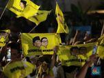 Massa Rayakan Klaim Prabowo Menangkan Pilpres 2019