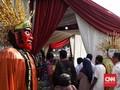 TPS Tempat Jokowi Mencoblos Dihiasi Ondel-ondel