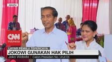 VIDEO: Usai Nyoblos Bareng Iriana, Jokowi: Plong...