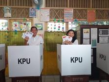 Nyoblos Pakai Baju Putih, Jonan: Saya Mendukung Pak Jokowi