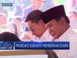 Begini Gaya Prabowo Nyoblos Bersama Fadli Zon