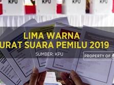 Mengenal Lima Warna Surat Suara Pemilu