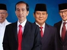 Quick Count Pukul 19.00 WIB: Rerata Suara Jokowi Capai 54%