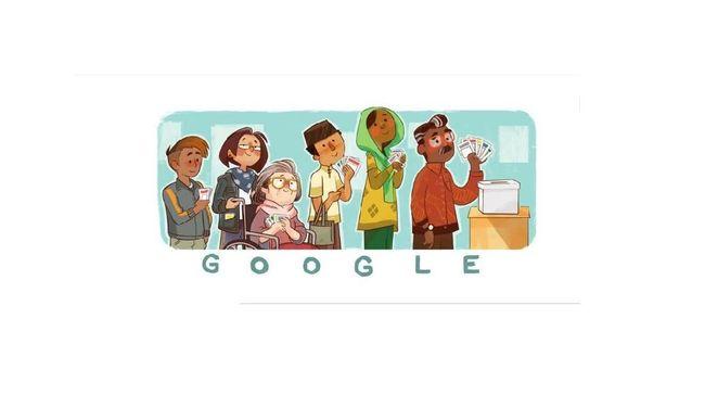 Google Rayakan Pemilu 2019 dengan Doodle