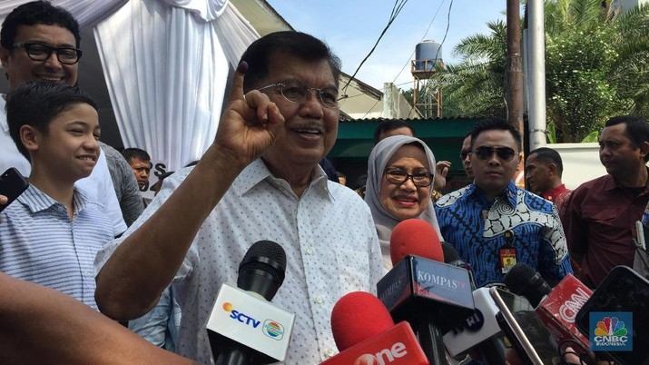Hari Pencoblosan, JK Harap Partisipasi Pemilu Sentuh 75-80%