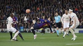 FOTO: 5 Momen Keajaiban Lionel Messi vs Man United