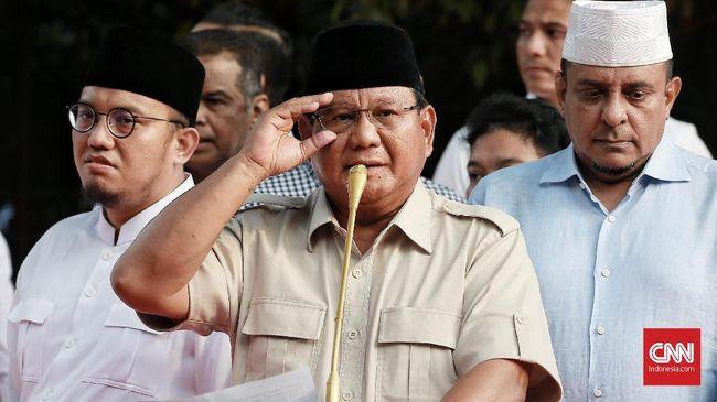 Pidato 'Kemenangan' Prabowo: Kita Unggul 55,4 Persen