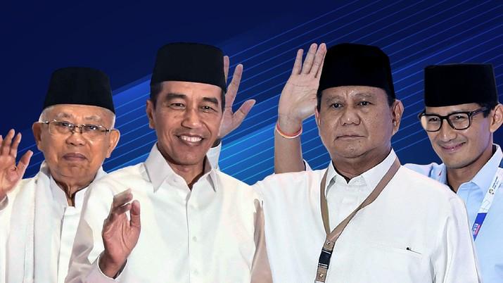 Real Count KPU Pukul 07.30 WIB: Jokowi 54,2% & Prabowo 45,8%