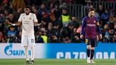 Padahal Manchester United sempat memberikan ancaman serius di awal pertandingan dan terlihat memiliki potensi mengimbangi Barcelona. (REUTERS/Albert Gea)